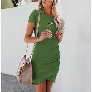 Women's short sleeve body con mini dress